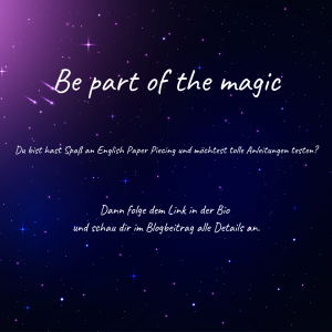 Be part of the magic – Patterntester*Innen gesucht